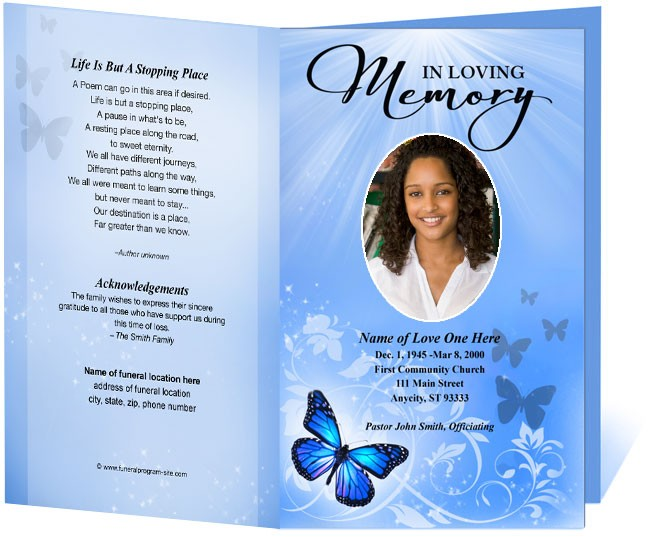 featured gatefold design 8 free funeral program templates word – Funeral Templates