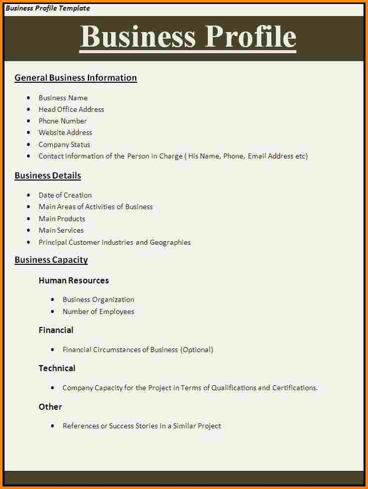 Doc580650 Sample of a Company Profile Format 32 Free Company – Sample of a Company Profile Format