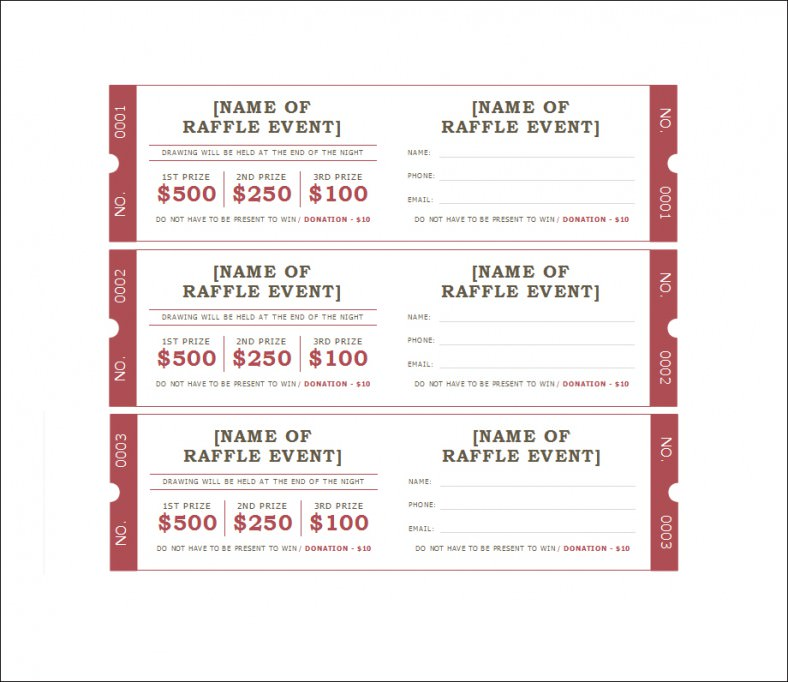 Ticket template raffle ticket template all form templates for Raffel ticket template