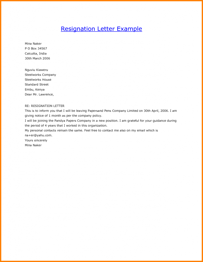 resignation letter template all form templates resignation letter template resignation form